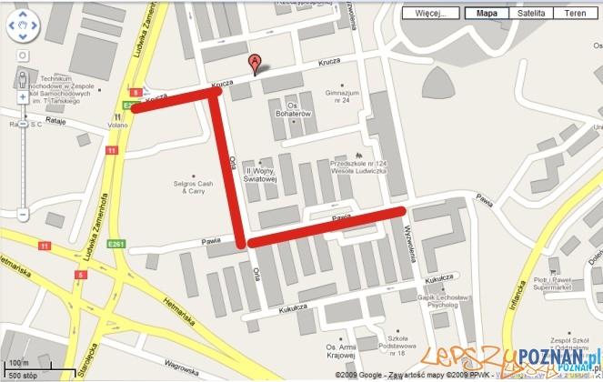 Miejsca remontu / google maps  Foto: