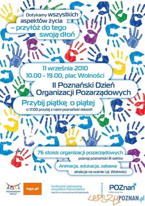 II Poznański Dzień Organizacji Pozarządowych  Foto: materiały prasowe