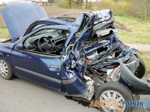 wypadek w Bogdanowie  Foto: KWPSP