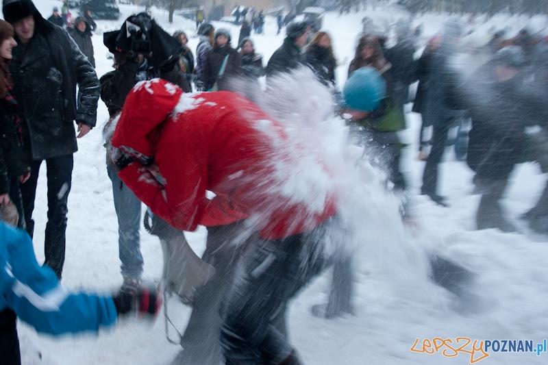 Wielka Poznańska Bitwa na Śnieżki - 18.12.2010 r.  Foto: Paweł Rychter