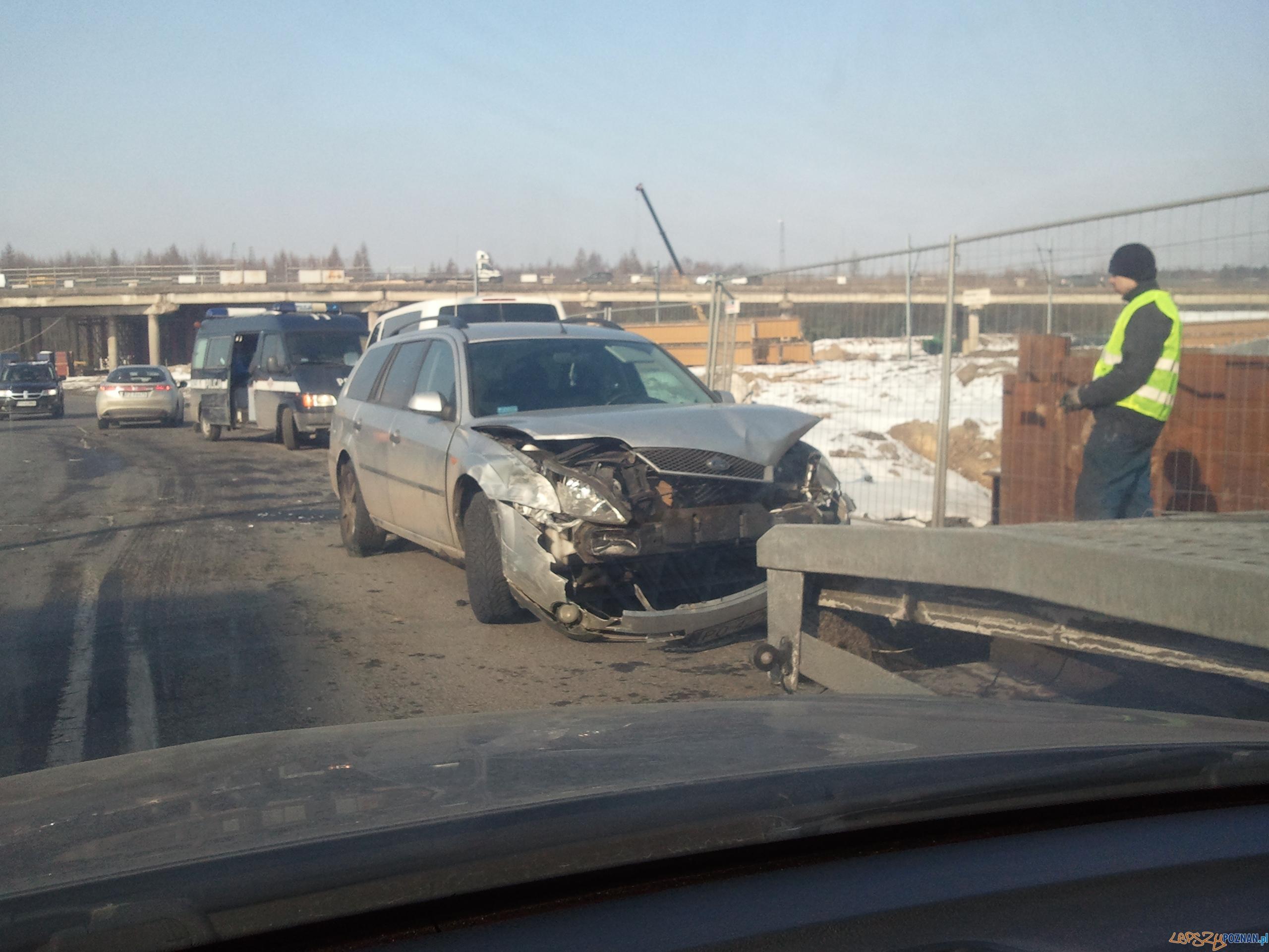 Wypadek na Światopełka  Foto: