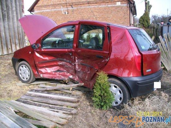 Wypadek w miejscowości Skokum  Foto: KP PSP Słupca