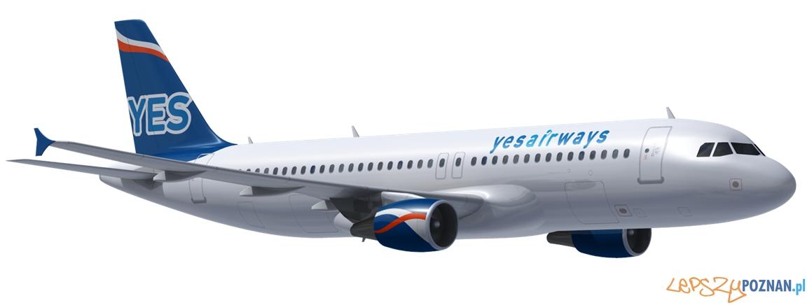 Airbus YES.A320 nowy samolot na Ławicy  Foto: materiały prasowe