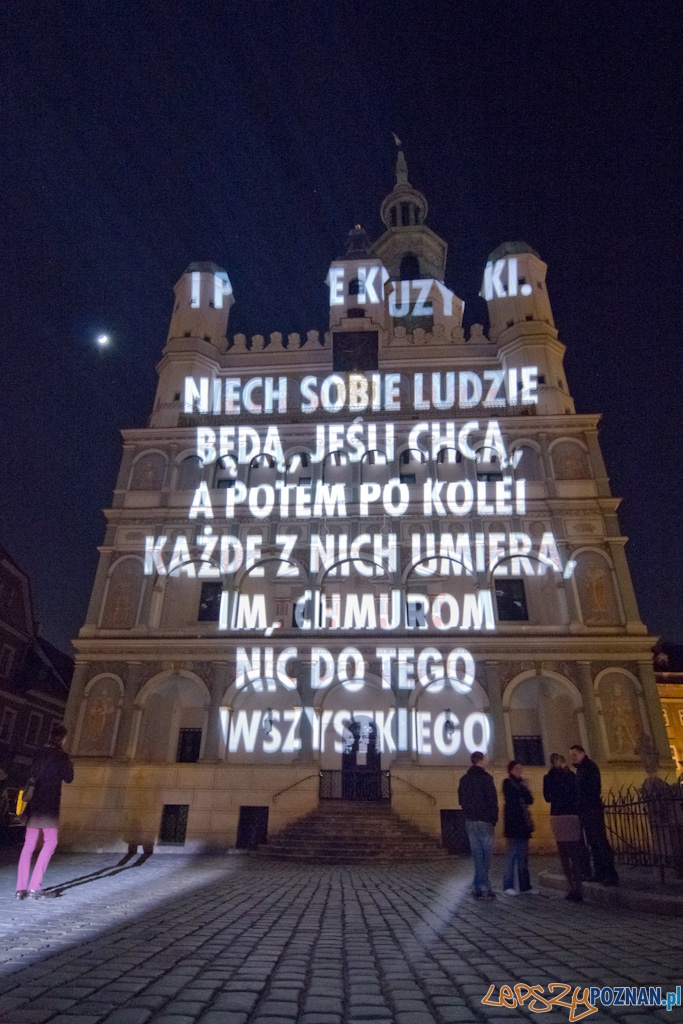 Prezentacja wierszy Wisławy Szymborskiej - Ratusz  Foto: lepszyPOZNAN.pl / Piotr Rychter