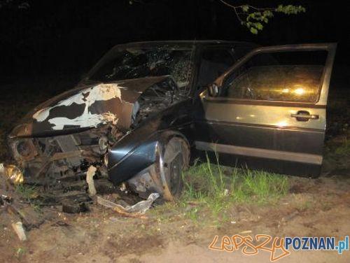 Wypadek w Koninku  Foto: KM PSP w Poznaniu