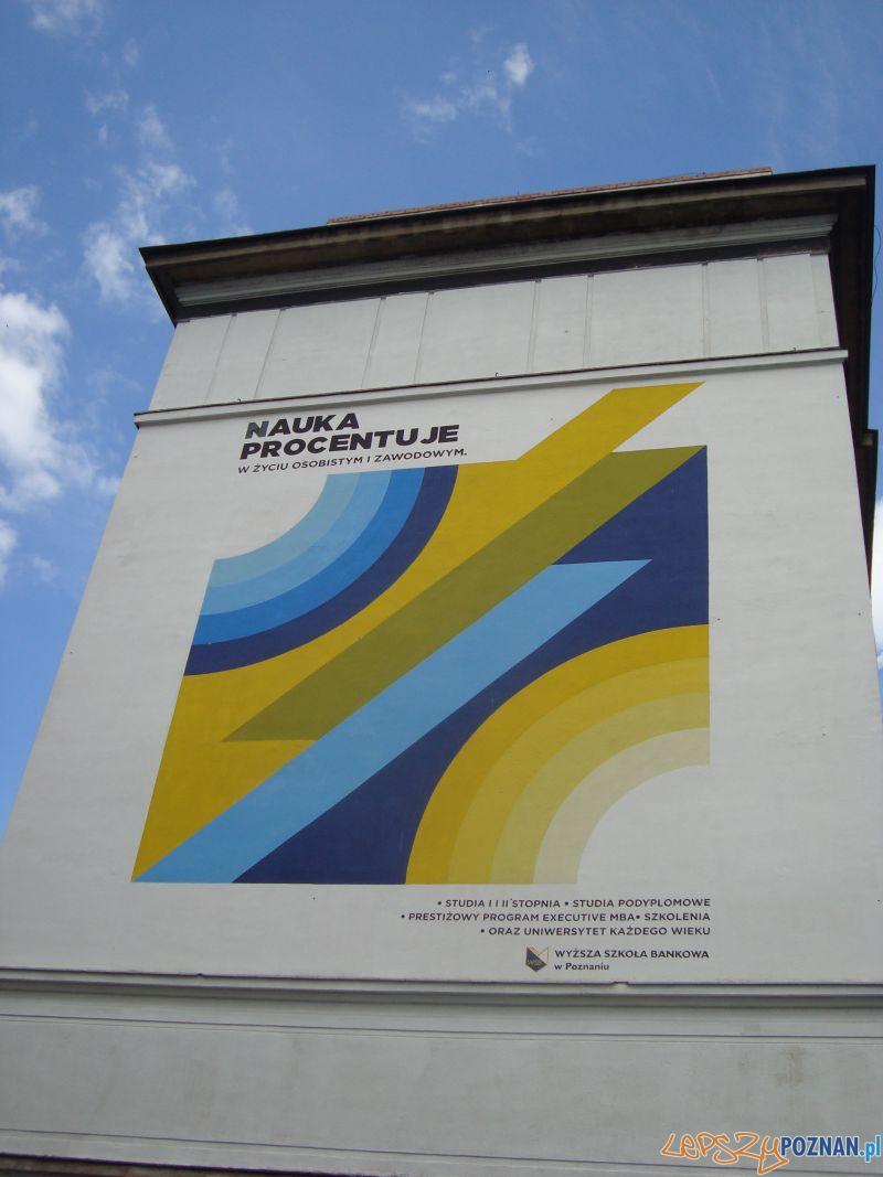 Mural WSB Nauka procentuje  Foto: Stowarzyszenie Inwestycje dla Poznania