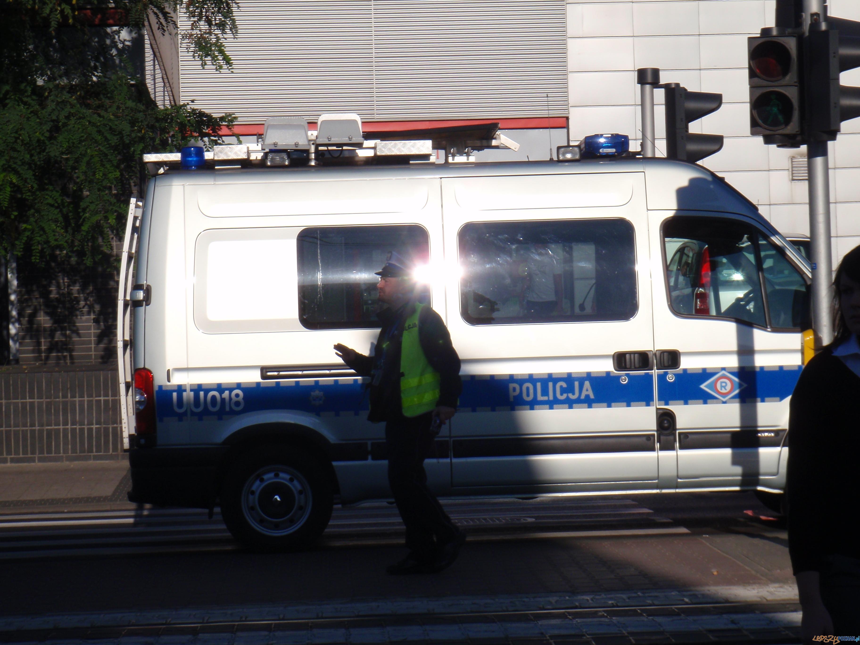 Wypadek na Głogowskiej przy Palacza  Foto: Anna