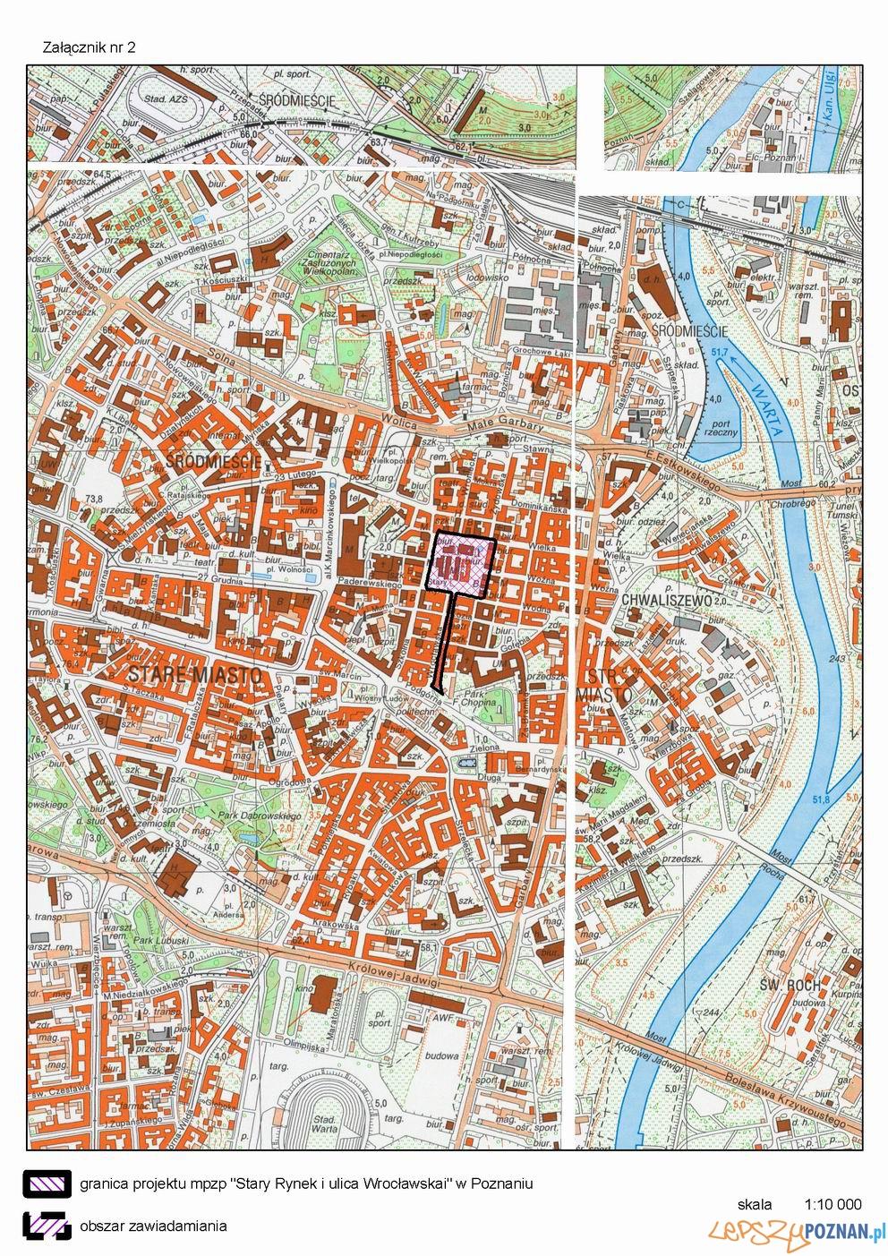Stare Miasto_Plan zagospodarowania Stary Rynek i Wrocławska  Foto: Urząd Miasta