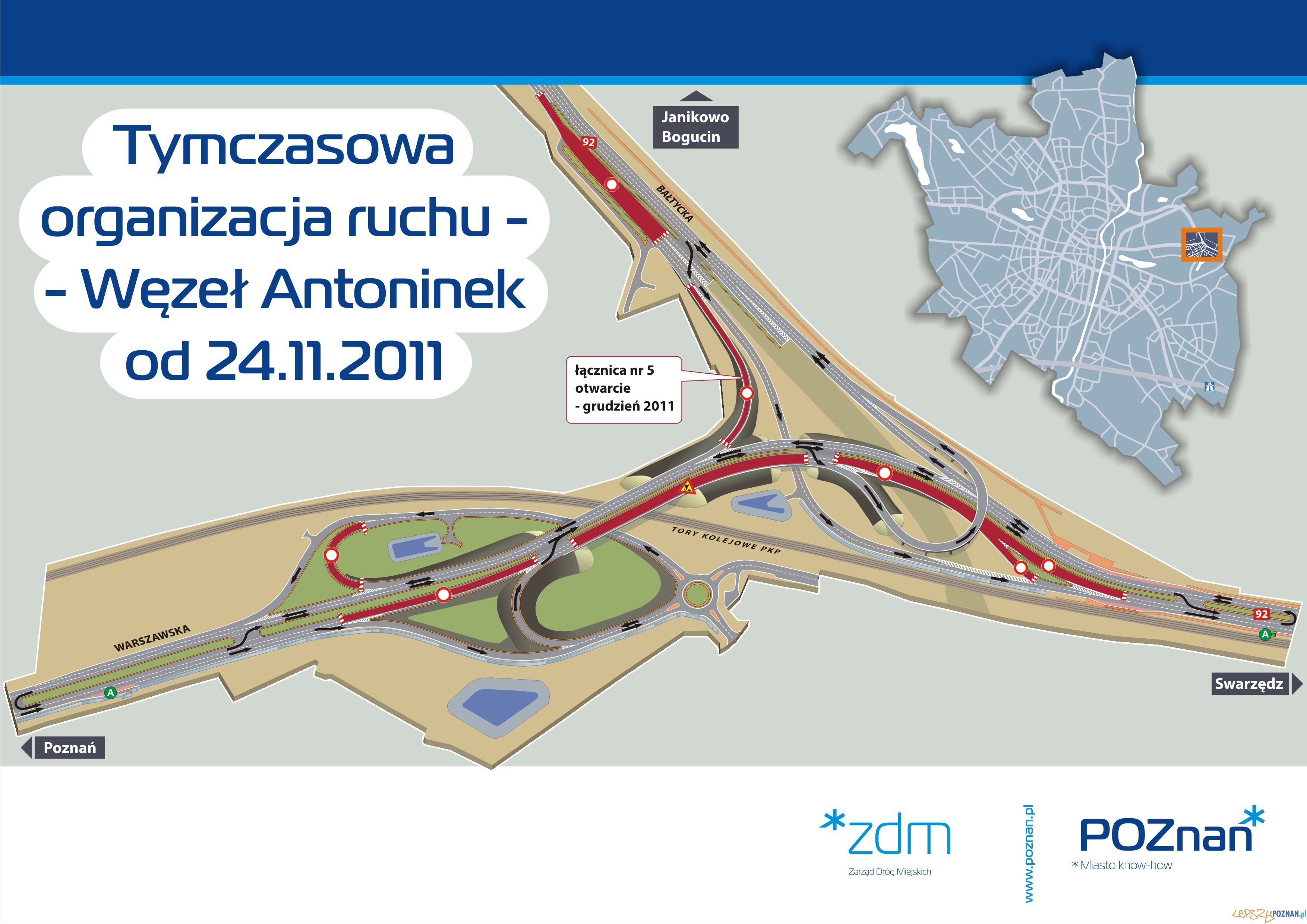 Jedziemy nowym wiaduktem!  Foto: ZDM Poznań