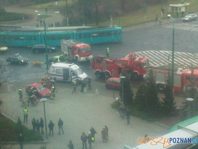 Wypadek na Królowej Jadwigi  Foto: news@lepszypoznan.pl
