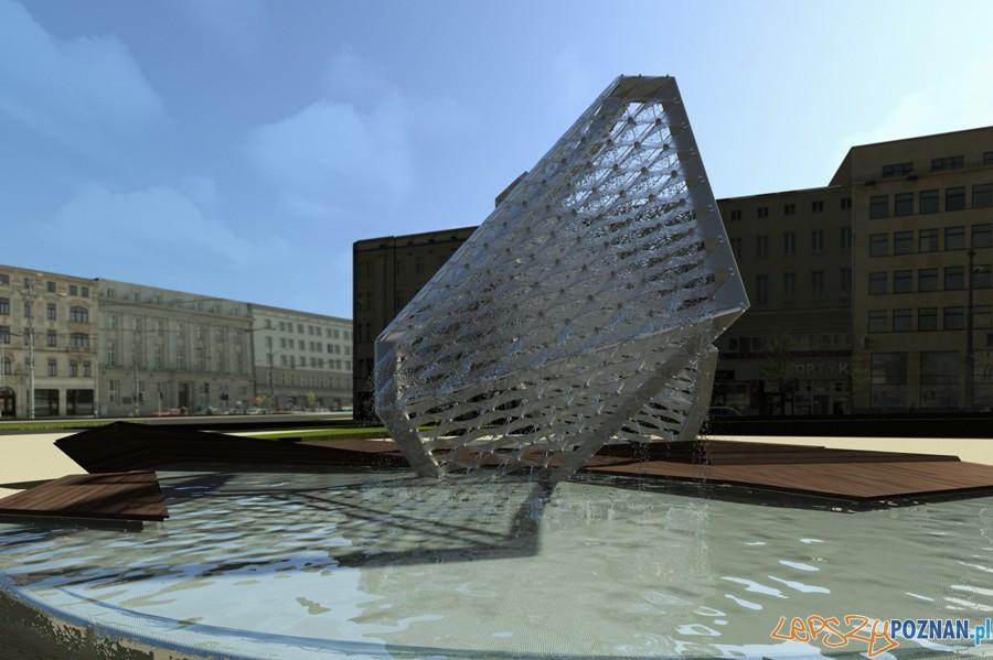 wizualizacja fontanny na Placu Wolności  Foto: Agnieszka Stochaj, Rafał Nowak