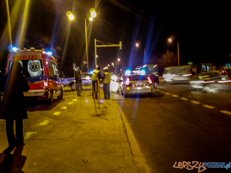 Wypadek na Szelągowskiej  Foto: gsm Marcin