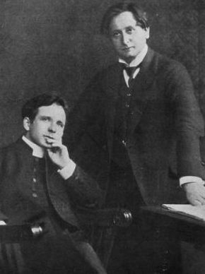 Ksiądz Wacław Gieburowski i Feliks Nowowiejski