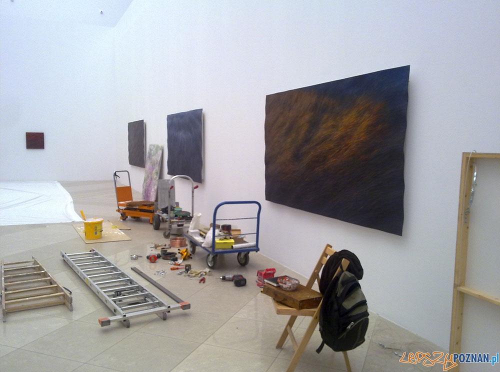 Przygotowania do wystawy - Okińczyc w Muzeum Narodowym  Foto: