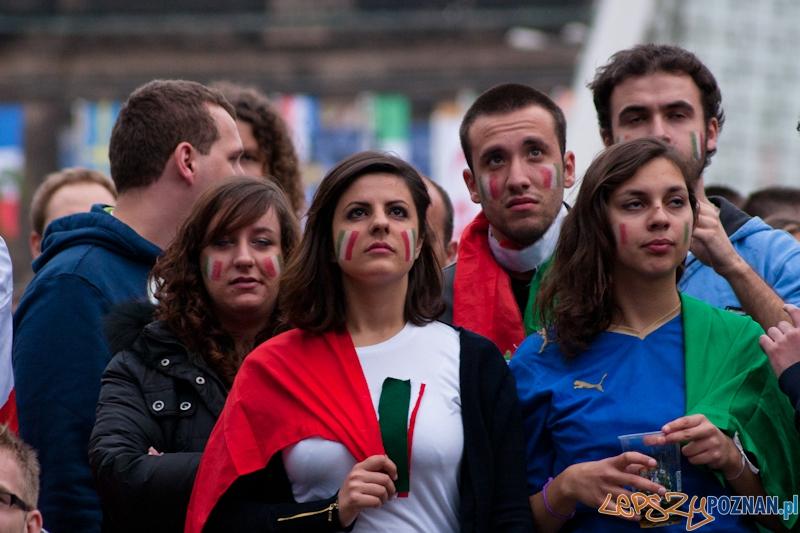 Strefa Kibica podczas meczu Włochy - Chorwacja - Poznań 14.06.2012 r.  Foto: LepszyPOZNAN.pl / Paweł Rychter