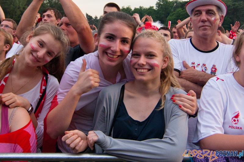 Strefa Kibica na Malcie podczas meczu Polska - Czechy - Poznań 16.06.2012 r.  Foto: LepszyPOZNAN.pl / Paweł Rychter