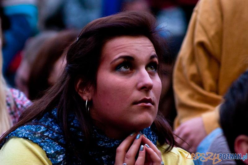 Strefa Kibica podczas meczu Portugalia - Hiszpania - Poznań 27.06.2012 r.  Foto: LepszyPOZNAN.pl / Paweł Rychter