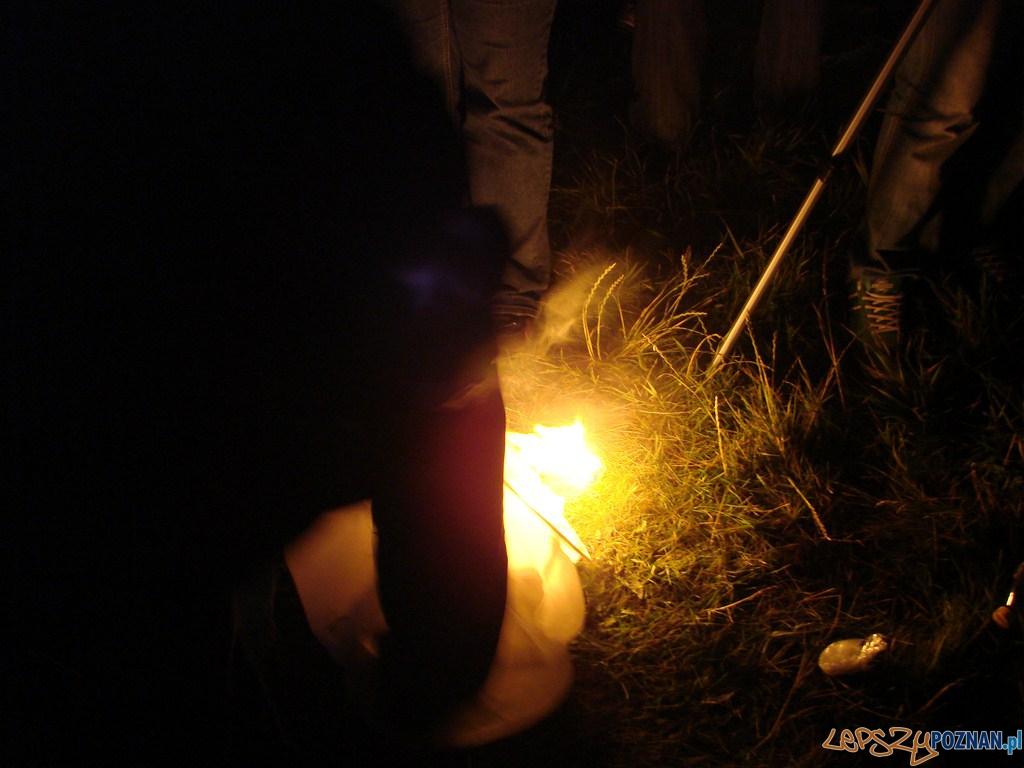 Noc Kupały 2012 - dość dużo było takich przypadków - pech  Foto: lepszyPOZNAN.pl / ag