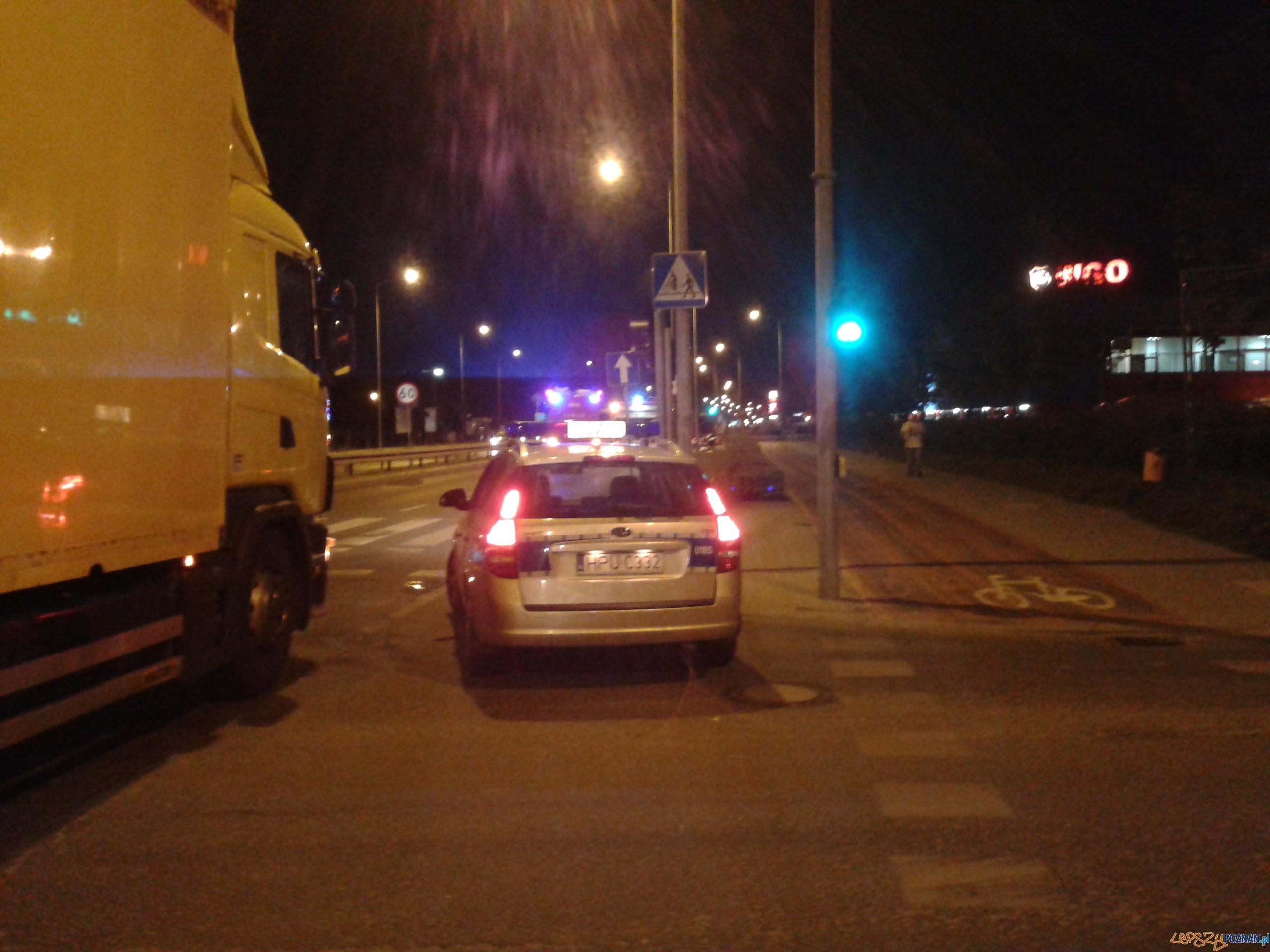 Zablokowana ulica Głogowska  Foto: lepszyPOZNAN.pl / gsm