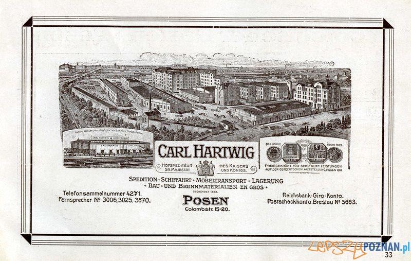 C. Hartwig, Towarowa 37-45_ 1912 rok, Ic 33_ s. 36  Foto: Muzeum Narodowe w Poznaniu, wystawa Miejska ikonosfera na drukach reklamowych z widokami Poznania 18