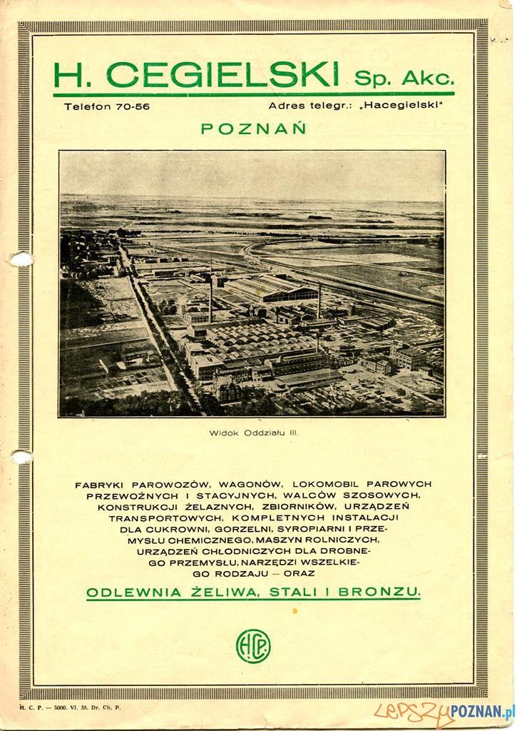 Cegielski, 28 czerwca 223-229  Foto: Muzeum Narodowe w Poznaniu, wystawa Miejska ikonosfera na drukach reklamowych z widokami Poznania 18