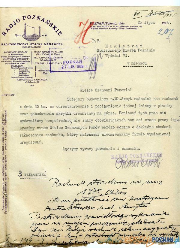 Radjo Poznańskie, Bukowska 53,  Foto: Muzeum Narodowe w Poznaniu, wystawa Miejska ikonosfera na drukach reklamowych z widokami Poznania 18