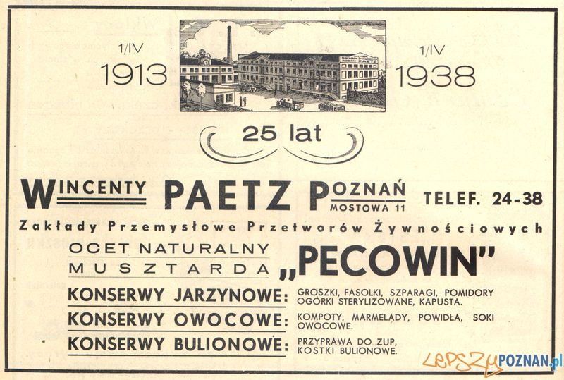 Wincenty Paetz - Pecowin - Mostowa 11  Foto: Muzeum Narodowe w Poznaniu, wystawa Miejska ikonosfera na drukach reklamowych z widokami Poznania 18