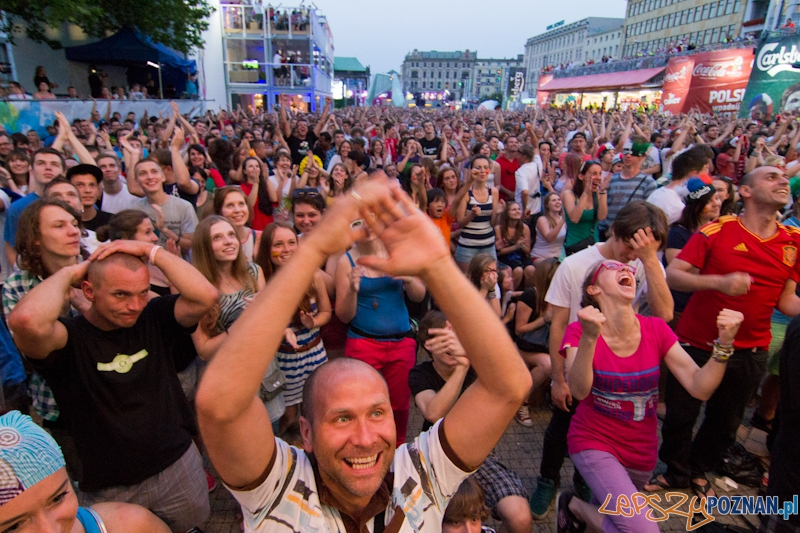 Finał UEFA EURO 2012 - Hiszpania - Włochy. Strefa Kibica w Poznaniu  Foto: lepszyPOZNAN.pl / Piotr Rychter