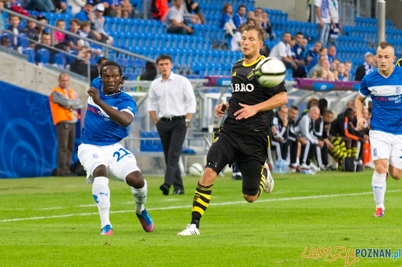 Eliminacje Ligi Europejskiej - Lech Poznań - AIK Solna. Stadion Miejski 9.08.2012 r.  Foto: lepszyPOZNAN.pl / Piotr Rychter