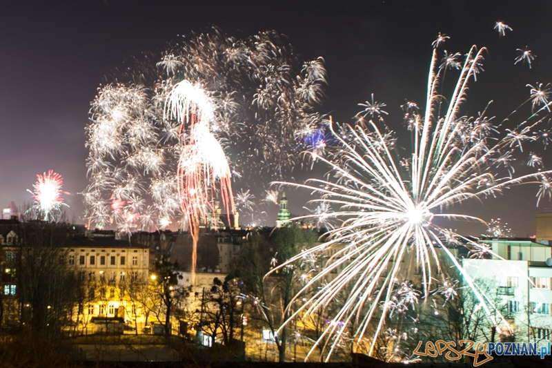 Sylwester 2012 - wybuchy nad Poznaniem - 01.01.2013  Foto: LepszyPOZNAN.pl / Paweł Rychter