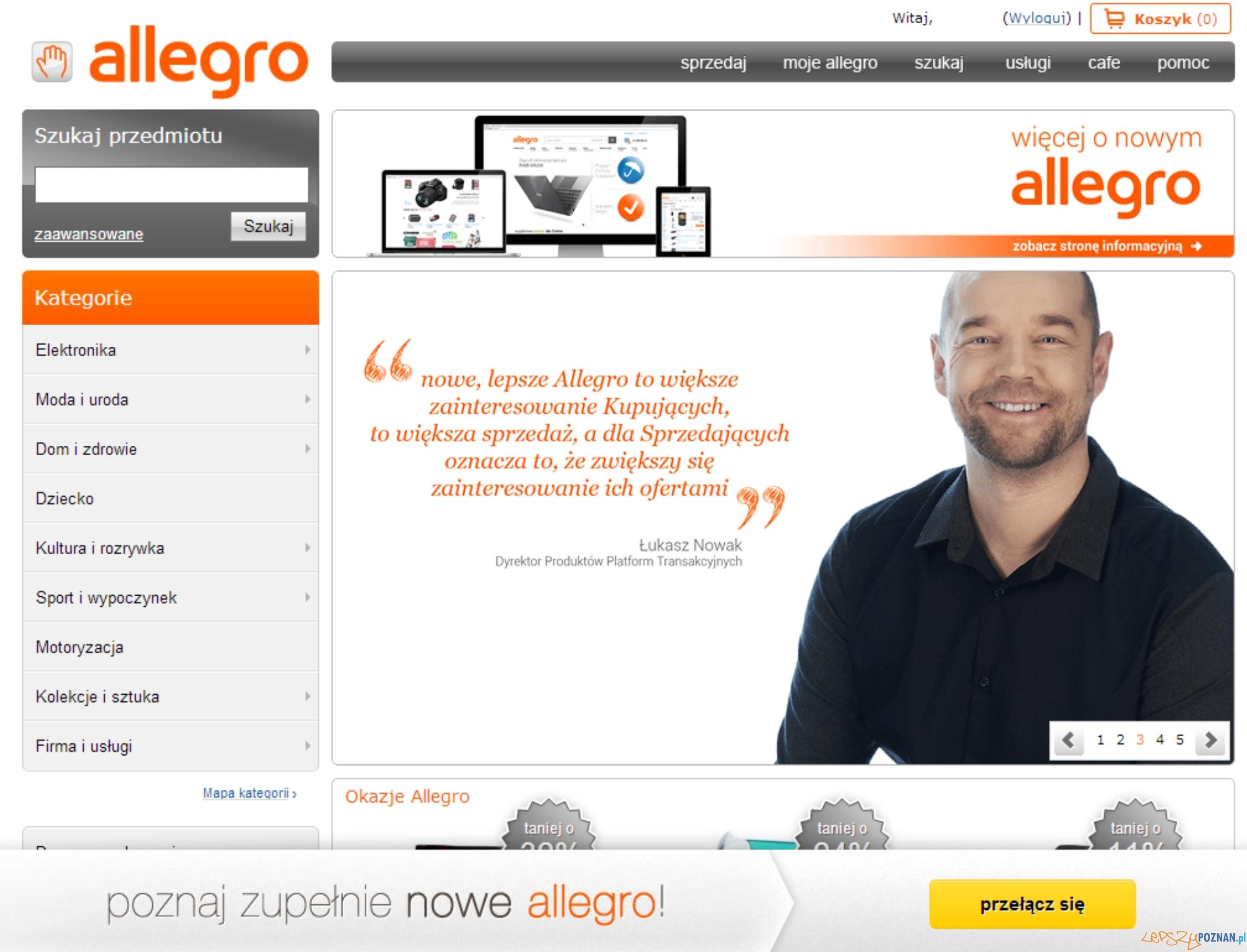 Stary wygląd serwisu Allegro  Foto: Stary wygląd serwisu Allegro