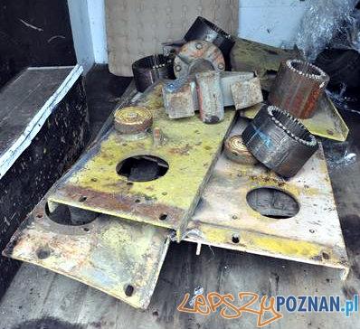 Skradzione elementy maszyn budowlanych  Foto: Policja w Poznaniu