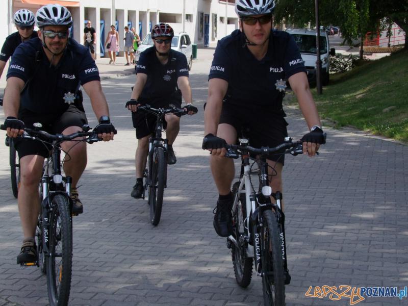 Policjanci na rowerach  Foto: Policja w Poznaniu