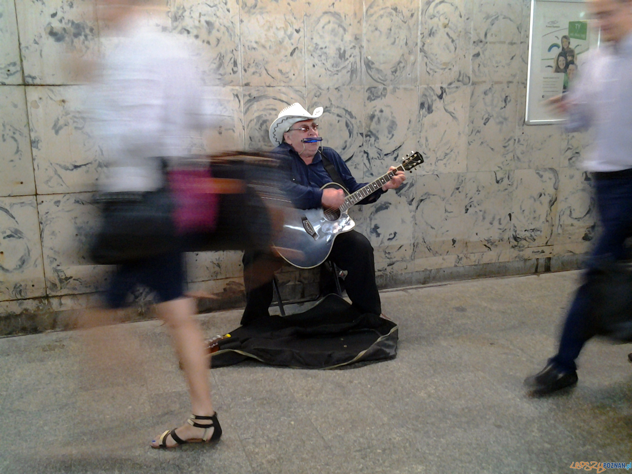 Pan Tadeusz- muzyk uliczny  Foto: lepszyPOZNAN.pl / tab 10.1