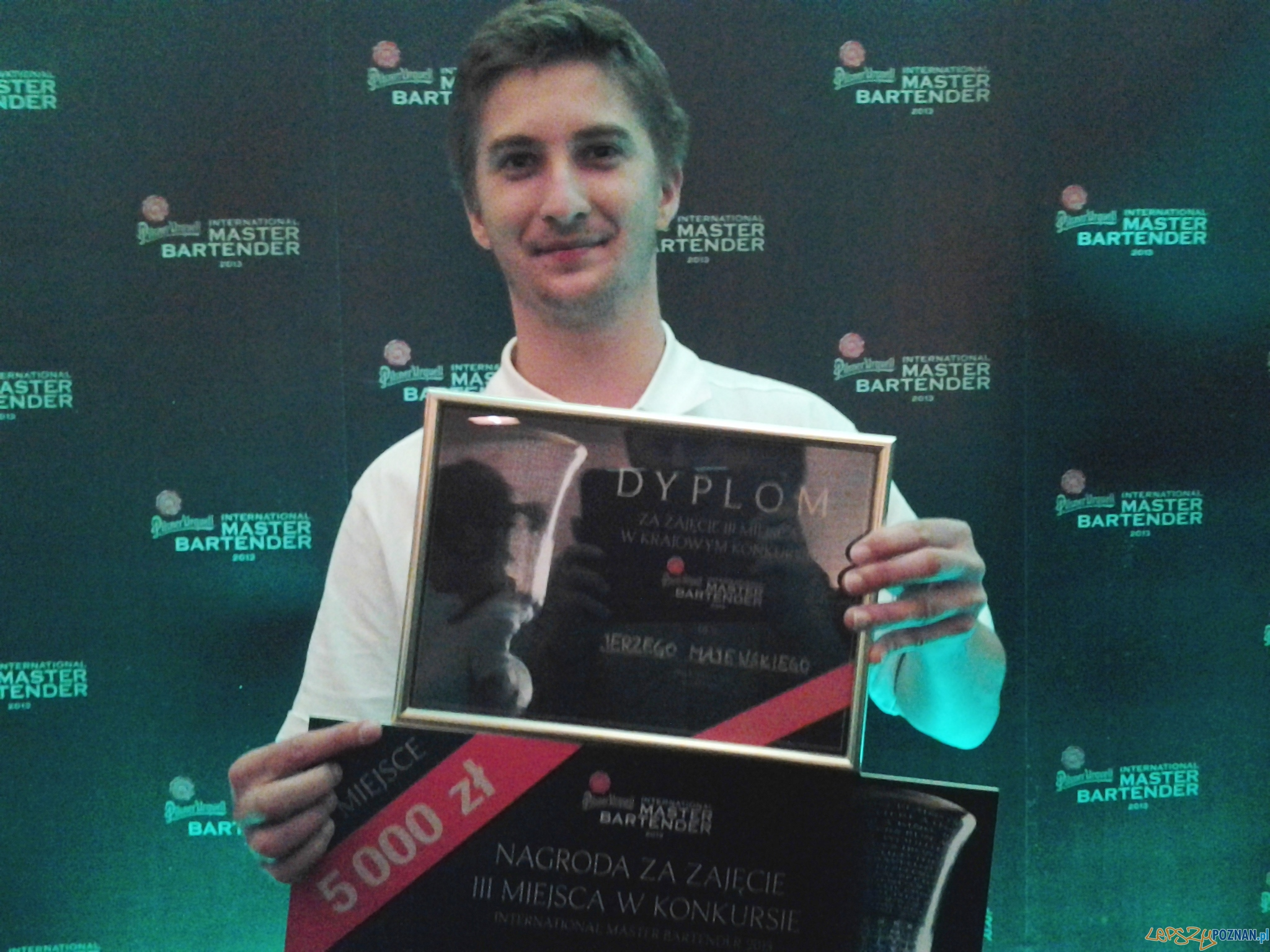 Jerzy Majewski - zdobył III miejsce w konkursie Finał konkursu International Master Bartender 2013  Foto: lepszyPOZNAN.pl / tab 10.1