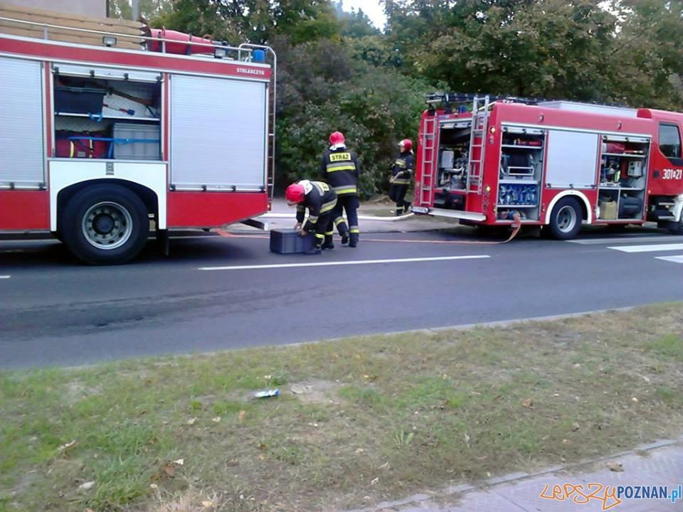 Pożar poddasza na ul. Głównej  Foto: Marta Bucka