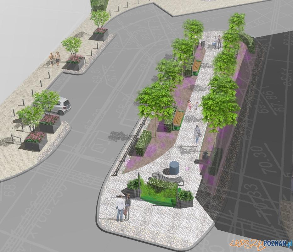 Projekt rewitalizacji skweru na Wildzie przy ulicy Dolina  Foto: ZDM