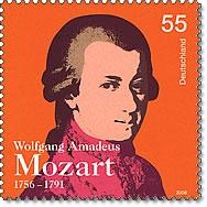 Mozart na znaczku  Foto: