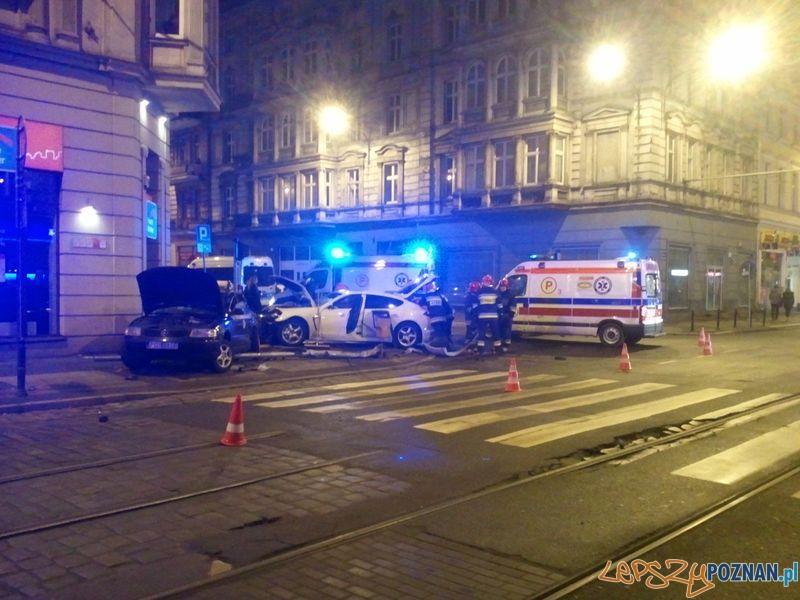 Wypadek na Św. Marcinie  Foto: PR
