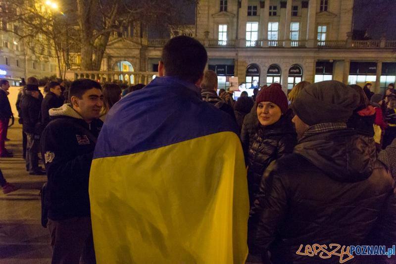 Demonstracja antywojenna na placu Wolności  Foto: lepszyPOZNAN.pl / Piotr Rychter