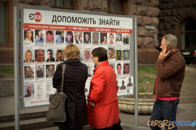 Poszukiwaniem zaginionych na Majdanie zajmuje się specjalnie powołana do tego jednostka Euromaidan Sos.  Foto: lepszyPOZNAN.pl / Mathias Mezler