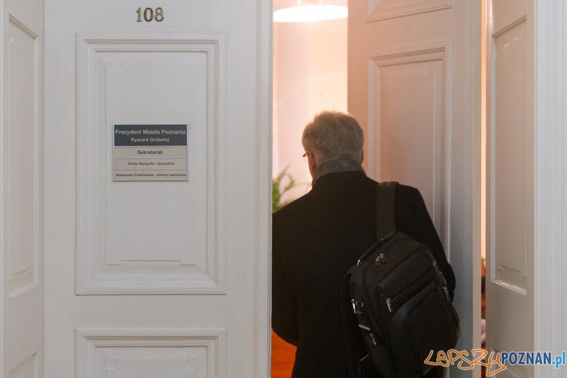 Pierwszy dzień w Urzędzie Prezydenta Jacka Jaśkowiaka  Foto: lepszyPOZNAN.pl / Piotr Rychter