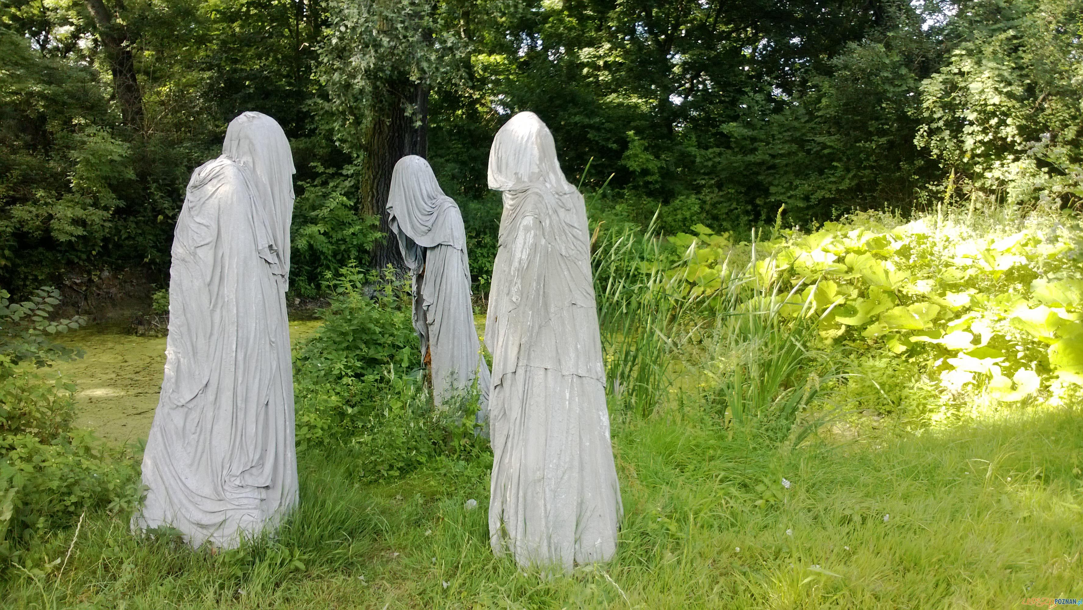 Rzeźby w parku w Koszutach  Foto: TD