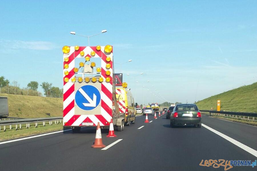 Wypadek na A2 i gigantyczne korki  Foto: lepszyPOZNAN