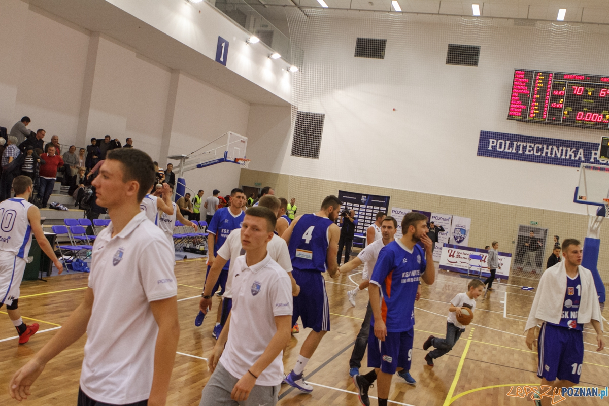 Biofarm Basket Poznań - KSK Noteć Inowrocław 70:64 - Poznań  Foto: LepszyPOZNAN.pl / Paweł Rychter