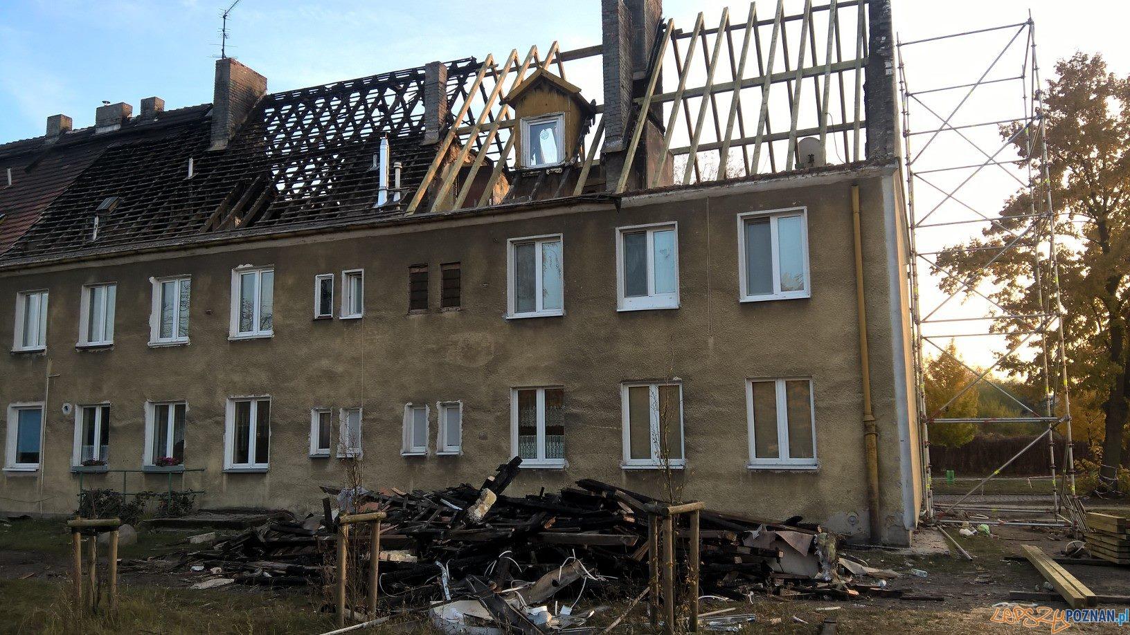 Trwa remont budynku po pożarze  Foto: Rada Osiedla Antoninek-Zieliniec-Kobylepole
