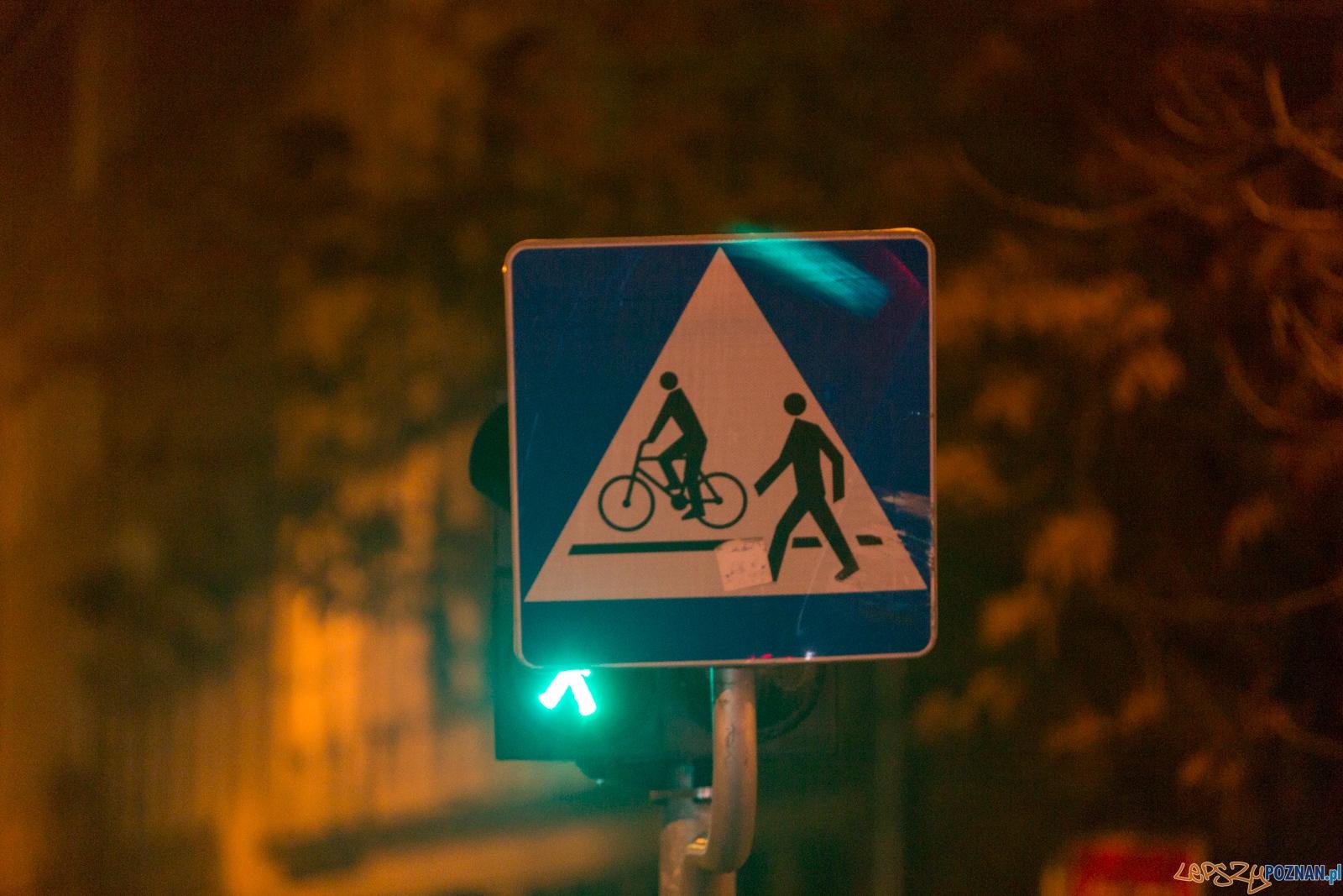 Dziwne światła na Zielonej  Foto: lepszyPOZNAN.pl / Piotr Rychter