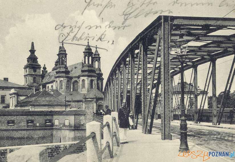 Most Cybinski pocztowka sprzed 1913 roku  Foto: Biblioteka Uniwersytecka