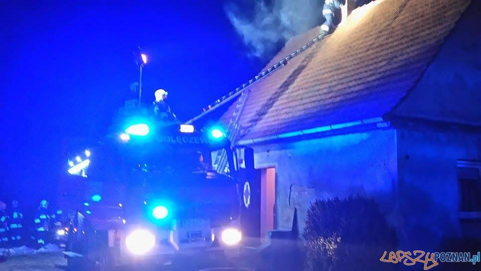 paliła się sadza w kominie  Foto: OSP Golęczewo