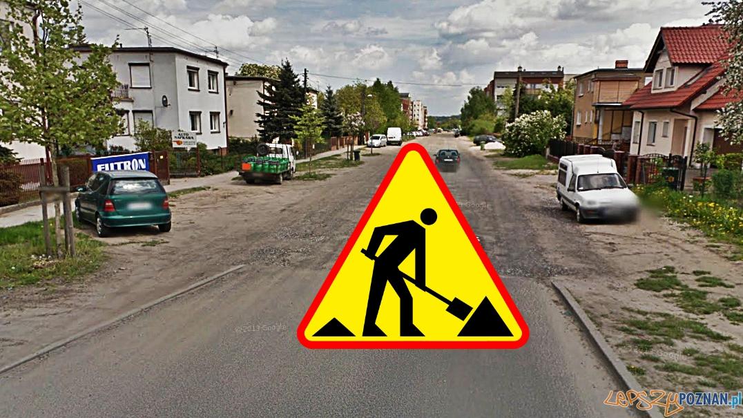 ul. Wschodnia w Luboniu  Foto: Google Street View